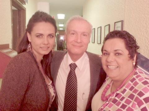 Adriana Córona, padre Luis Jorge Gonzalez, Melbaleny